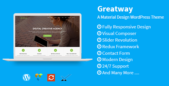 Greatway – Material Design WordPress Theme