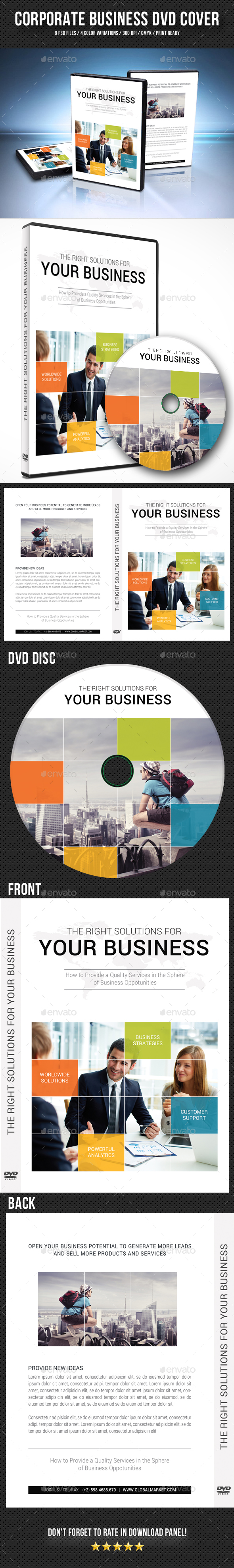 Corporate Business DVD Cover Template V11 - CD & DVD Artwork Print Templates