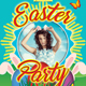 Happy Easter Party Flyer Template 154