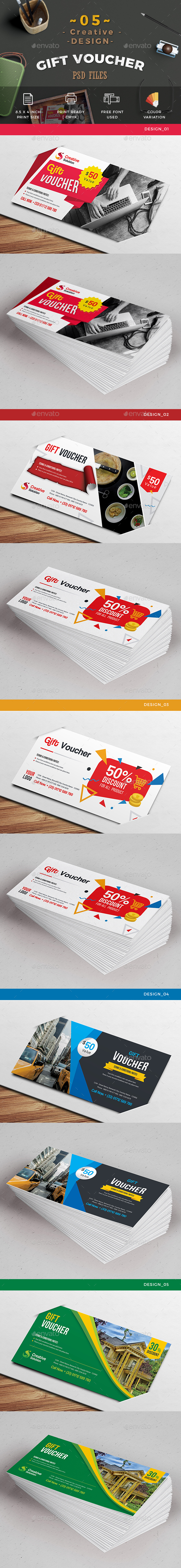 5_Design Gift Voucher - Cards & Invites Print Templates