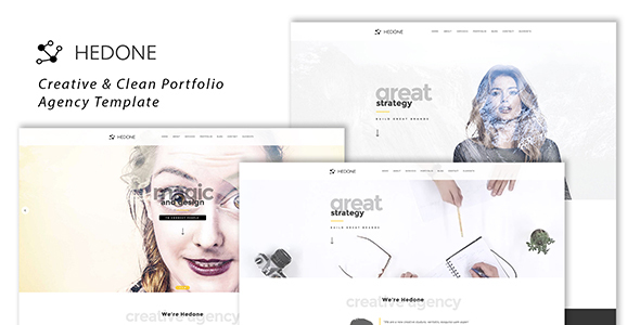 Hedone - Creative & Clean Portfolio / Agency Template - Creative Site Templates