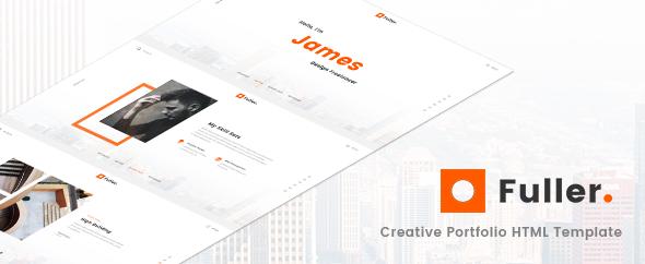 Fuller – Creative Portfolio, Resume & Agency HTML Template
