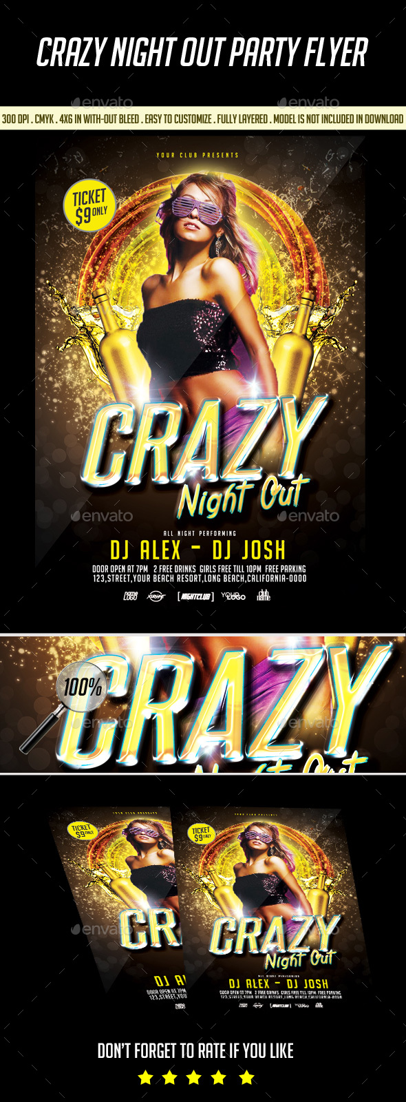 Crazy Night out Flyer - Clubs & Parties Events