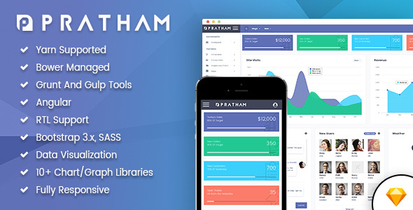 Pratham – Admin Dashboard Template