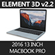 "Element3D 2016 MacBook Pro 13"" - 3DOcean Item for Sale"