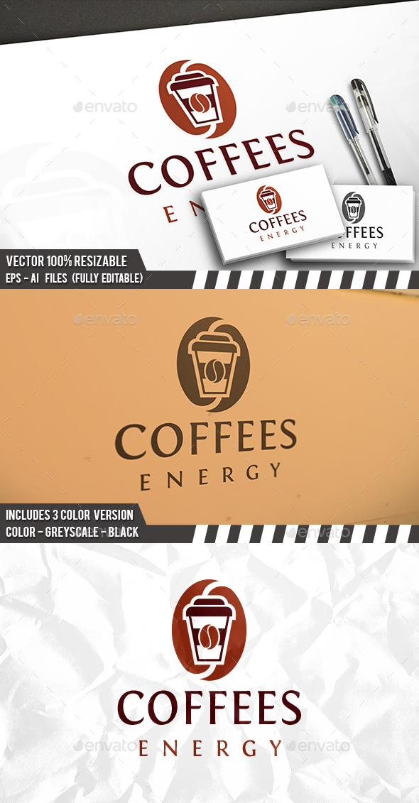 Coffee Drink Logo - Food Logo Templates