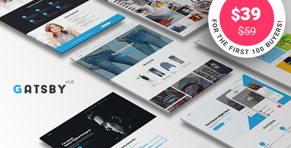 Gatsby – WordPress + eCommerce Theme