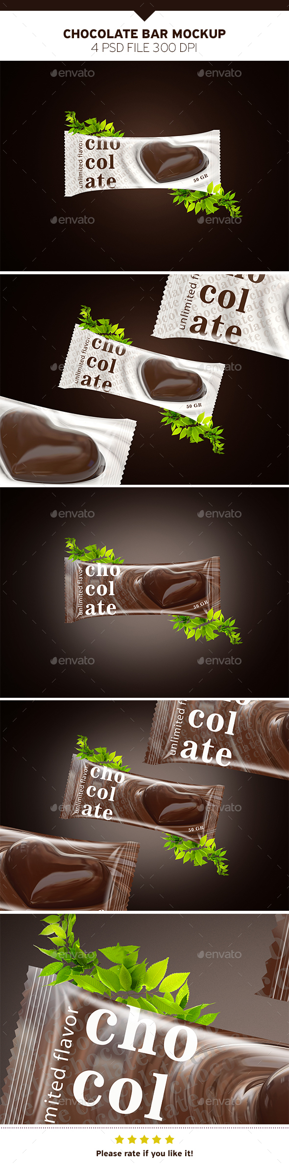 Chocolate Bar Mockup - Food and Drink Packaging