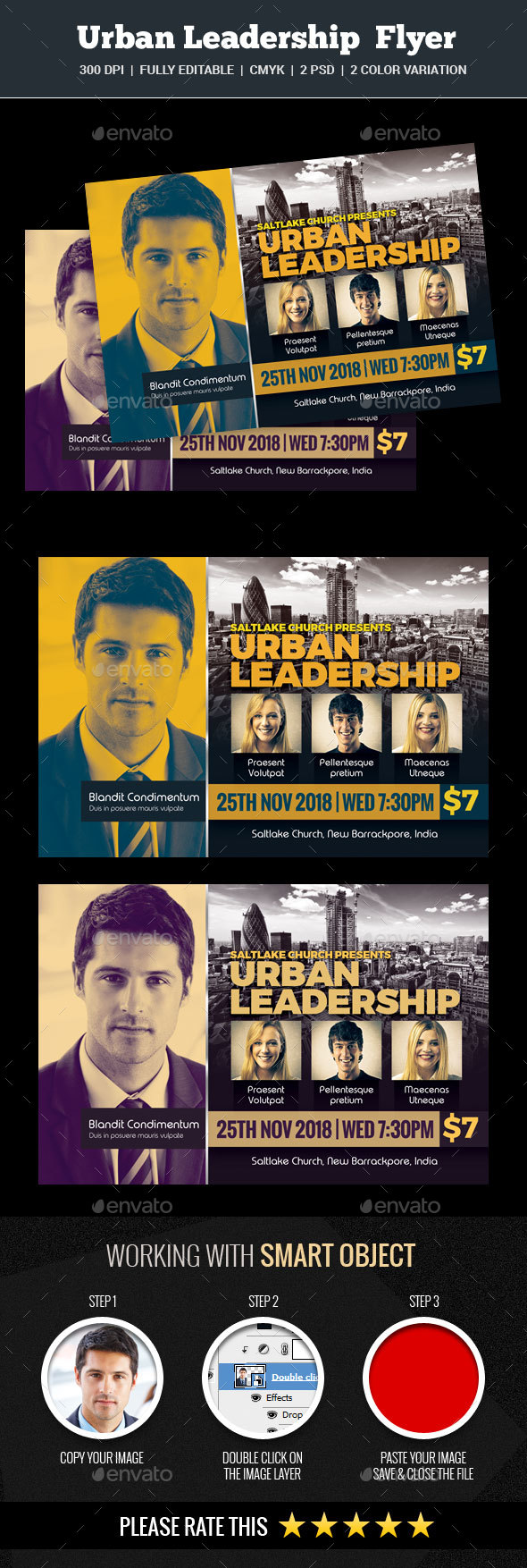 Urban Leadership Flyer - Church Flyers