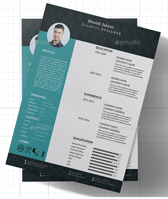 CV or Resume - Stationery Print