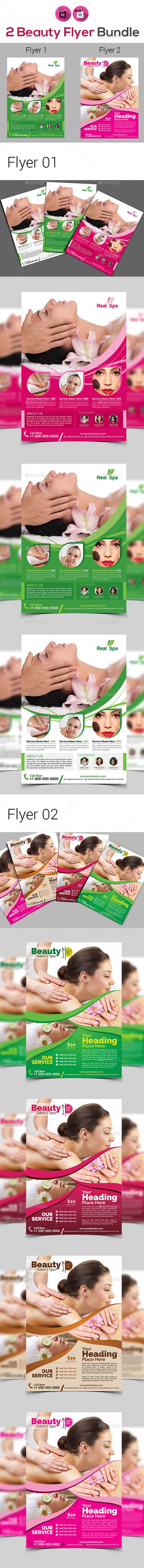 Beauty & Spa Flyers Bundle - Flyers Print Templates