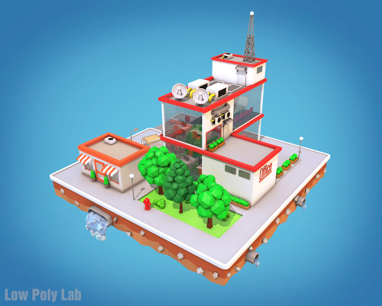 Low Poly City Block5