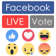 Facebook Live Reactions Vote (real-time) and Youtube, Twitch, Dailymotion - CodeCanyon Item for Sale