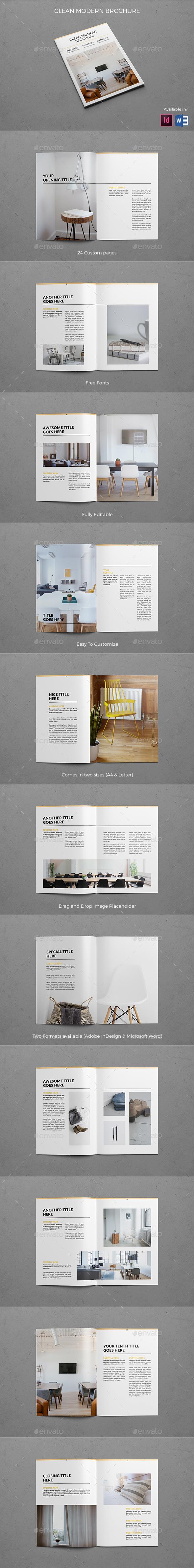 Clean Modern Brochure - Brochures Print Templates