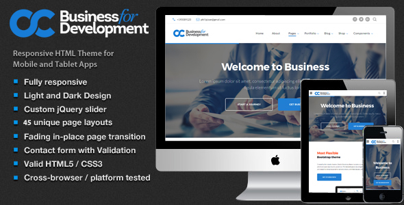 Business – Multipurpose Website Template For Business