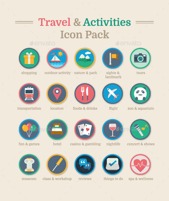 Travel & Activities Icon Pack - Icons