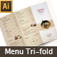 Thai Menu Tri-fold Brochures - GraphicRiver Item for Sale