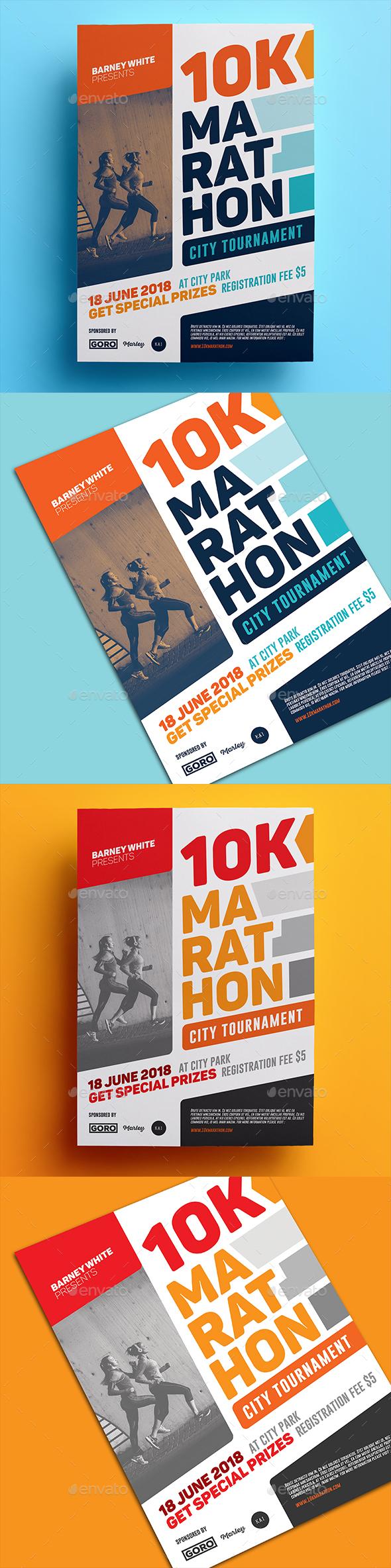 Marathon Flyer 02 - Sports Events