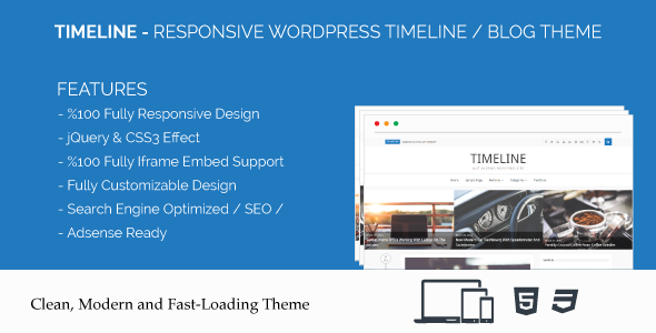 Timeline – Responsive WordPress Timeline / Blog Theme