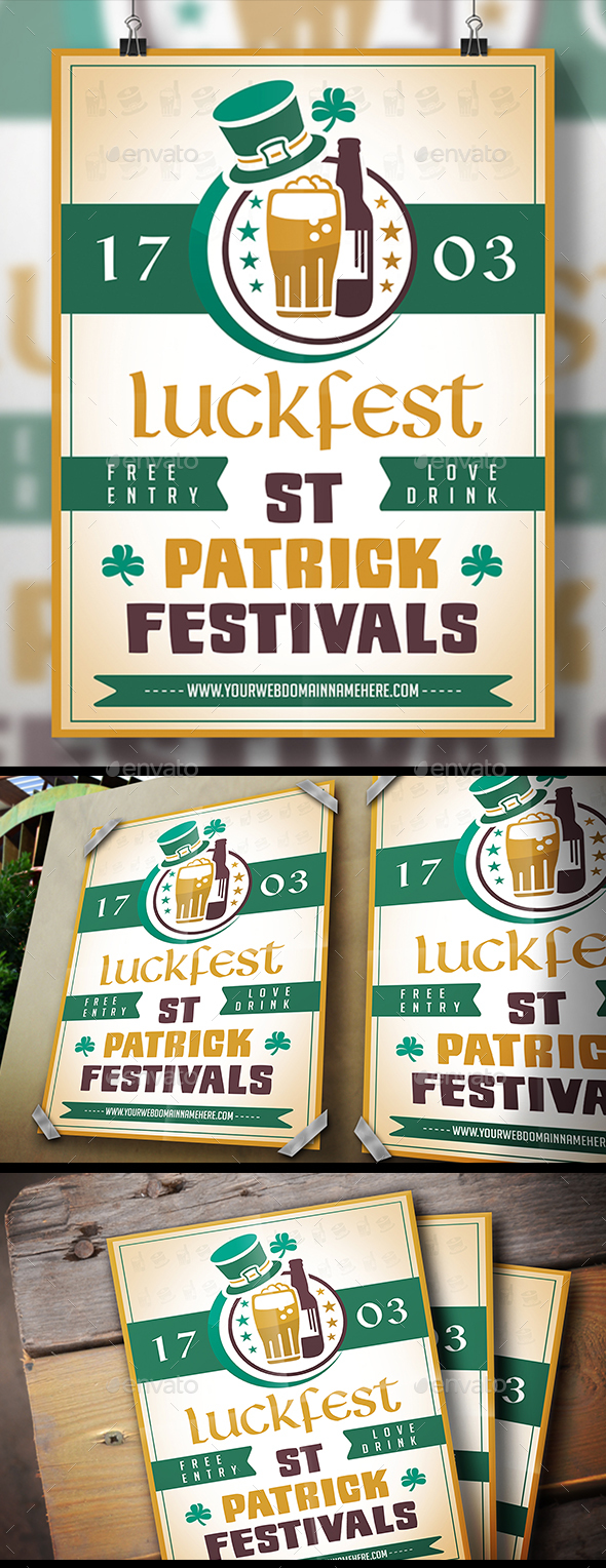 Saint Patrick Flyer - Clubs & Parties Events