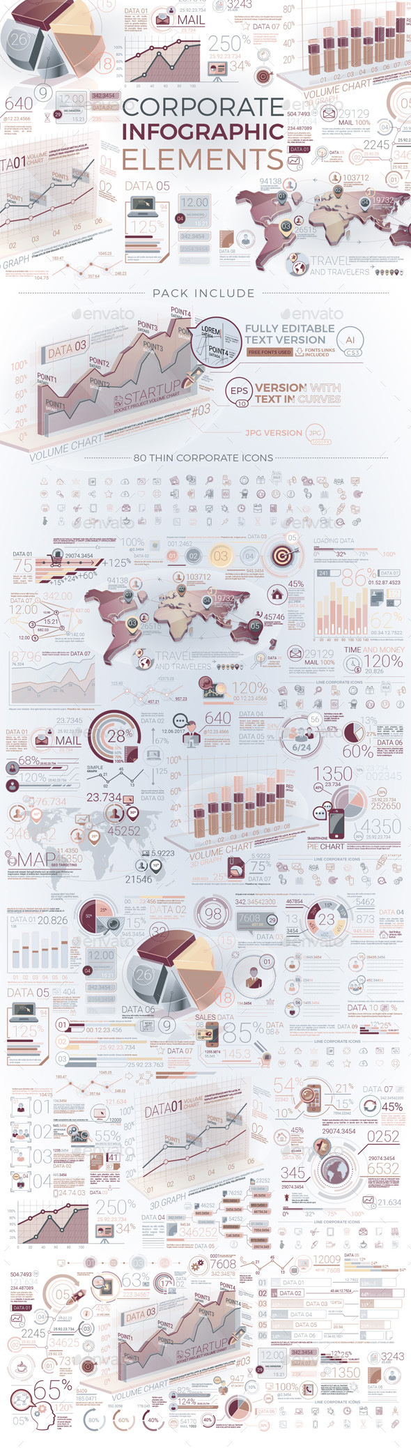 Corporate Infographic Elements - Infographics