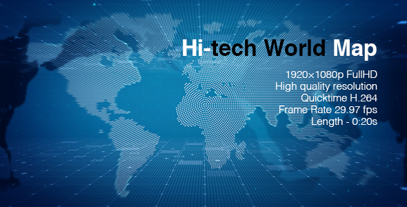 Hi tech world map by bomman videohive play preview video gumiabroncs Images