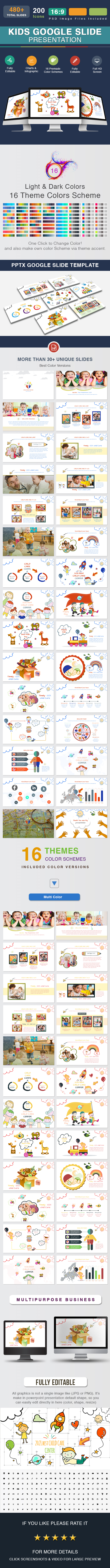 kids Google Slide Presentation Template - Google Slides Presentation Templates