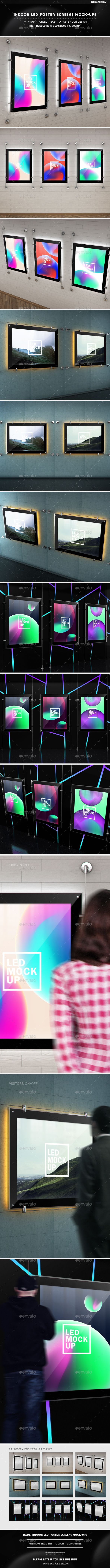 Indoor Led Poster Screens Mock-Ups - Posters Print