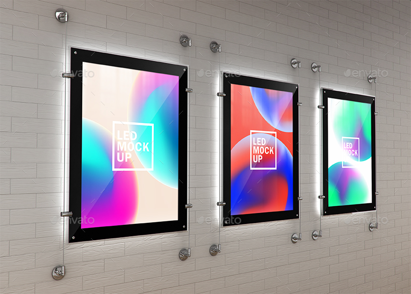 Indoor Led Poster Screens Mock Ups By Kheathrow Graphicriver