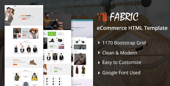 Fabric eCommerce HTML5 Template - Fashion Retail