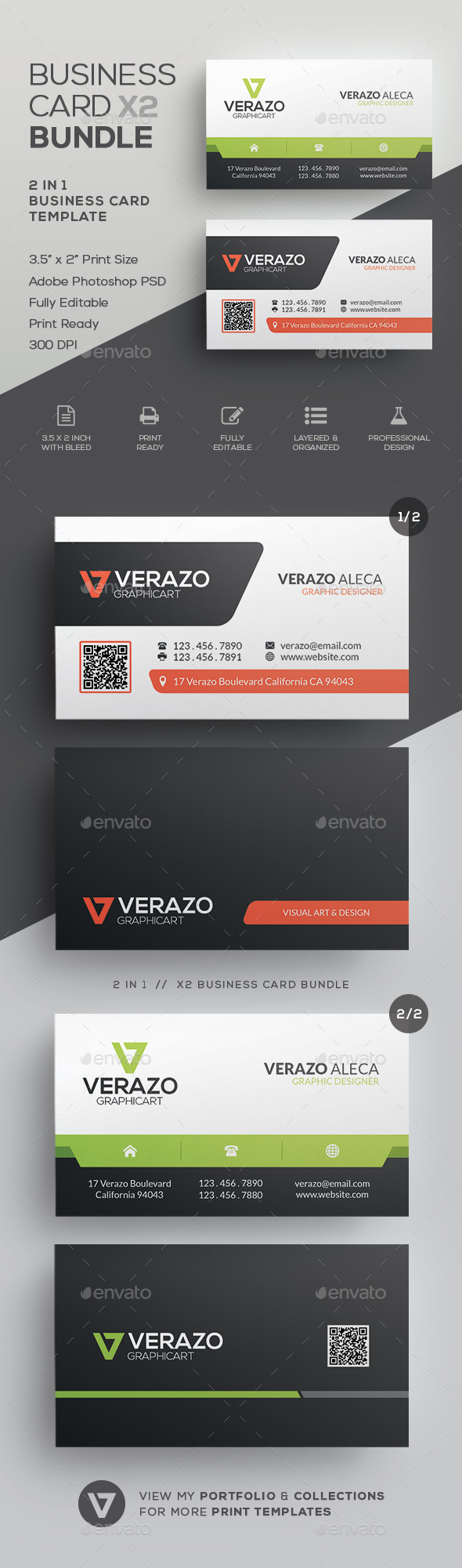 Business Card Bundle 27 - Corporate Business Cards
