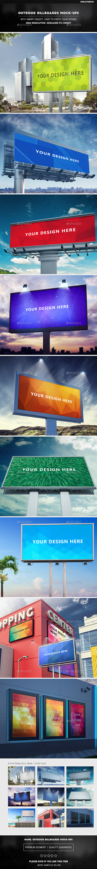 Outdoor Billboards Mock-Ups - Signage Print