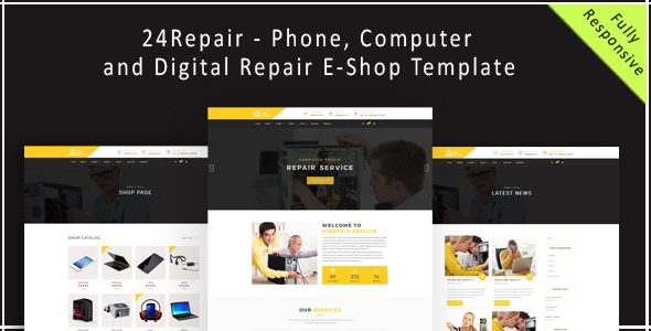24Repair – Mobile, Computer, Electronic and Digital Repair E-Shop HTML5 Template