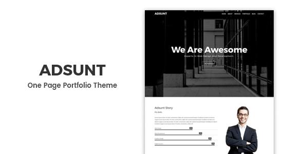 Adsunt – Personal Portfolio WordPress Theme