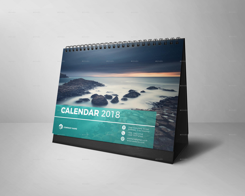 Table Calendar 2018 : Desk calendar by kreatbox graphicriver