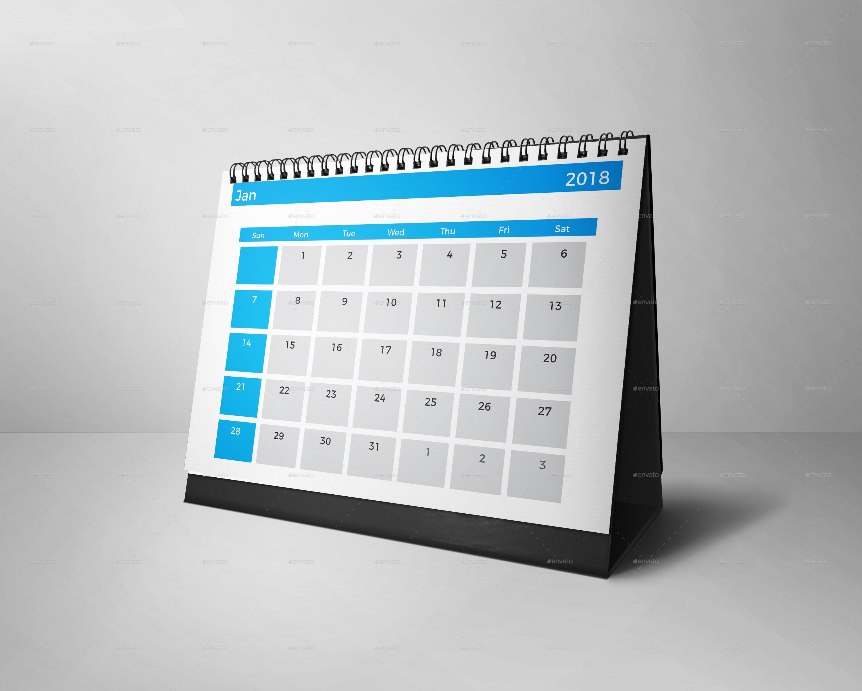 Desk Calendar 2018 by kreatbox | GraphicRiver