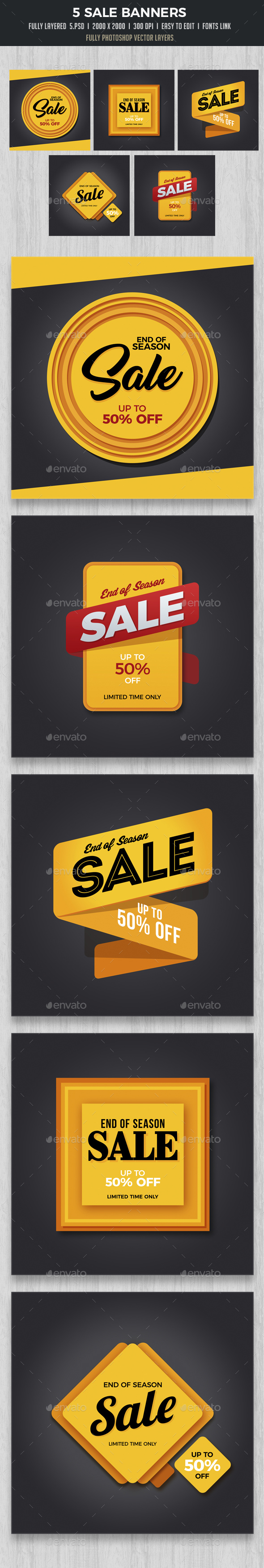 Season Sale Banners - Banners & Ads Web Elements