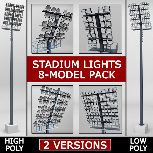 Stadium light lux pack - 3DOcean Item for Sale
