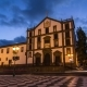 Funchal Town Hall and Square with a Fountain  Hyperlapse. Madeira, Portugal