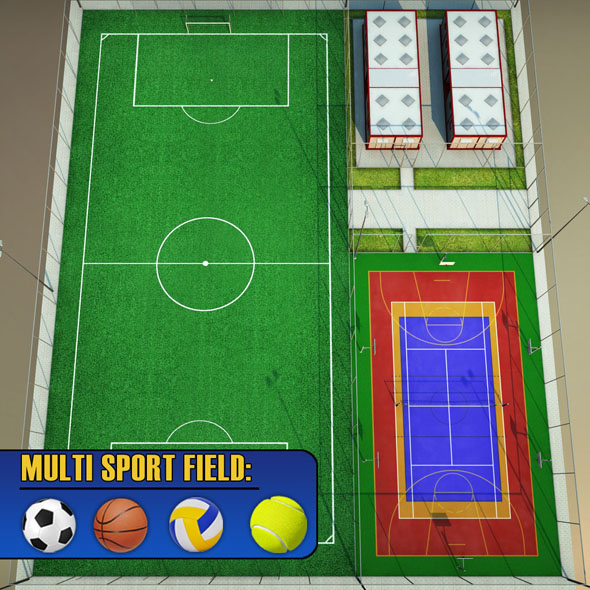 Sport football court arena pack - 3DOcean Item for Sale