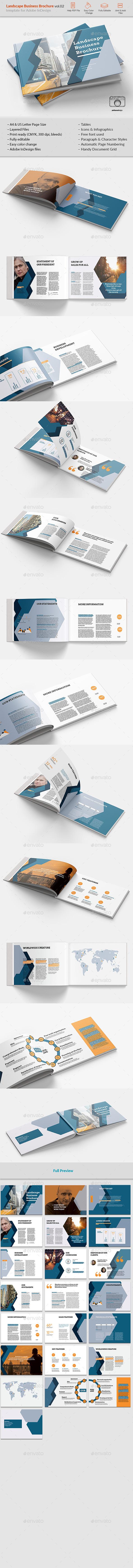 Landsape Business Brochure vol.02 - Brochures Print Templates
