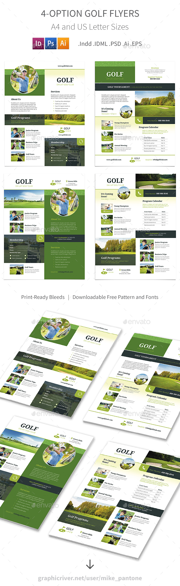 Golf Flyers 5 – 4 Options - Corporate Flyers