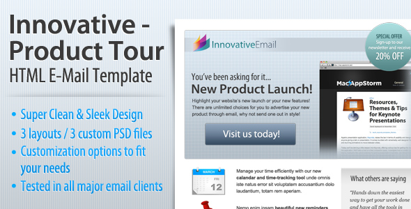 Free Download Innovative - Product Tour HTML Email Template Nulled Latest Version