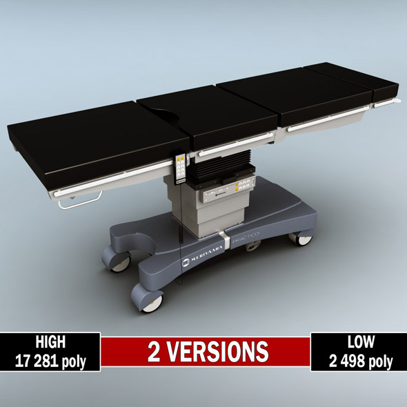 Operating surgical table low poly high - 3DOcean Item for Sale