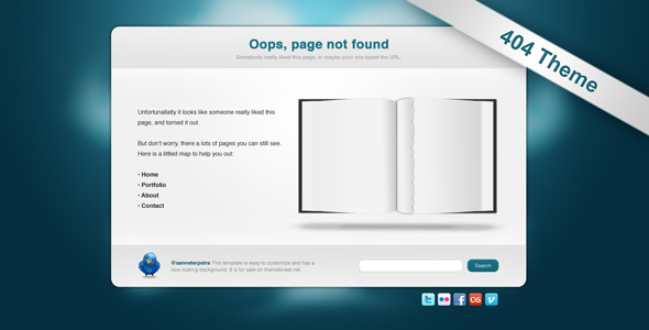 Free Download Torned Out - 404 Template Nulled Latest Version