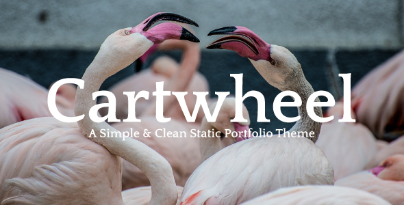 Cartwheel – A Simple & Clean Static Portfolio Theme