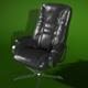 armchair_black_leather_render_setup - 3DOcean Item for Sale