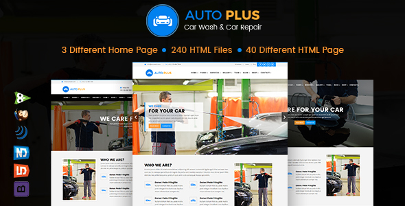 Auto Plus – Car Wash and Car Repair HTML Template