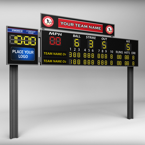 Baseball scoreboard small - 3DOcean Item for Sale