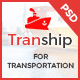 Tranship - Shipping / Logistics / Transportation / Business PSD Template Nulled